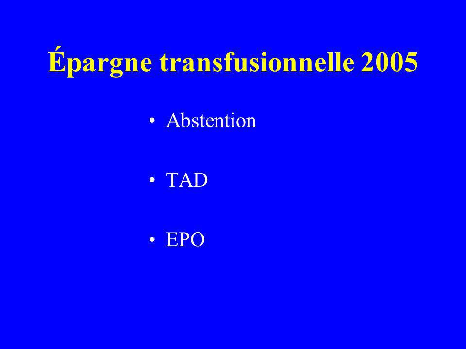 Épargne transfusionnelle 2005 Abstention TAD EPO