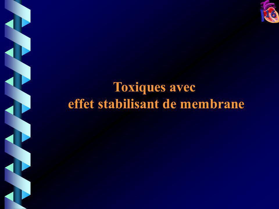 16 Toxiques avec effet stabilisant de membrane