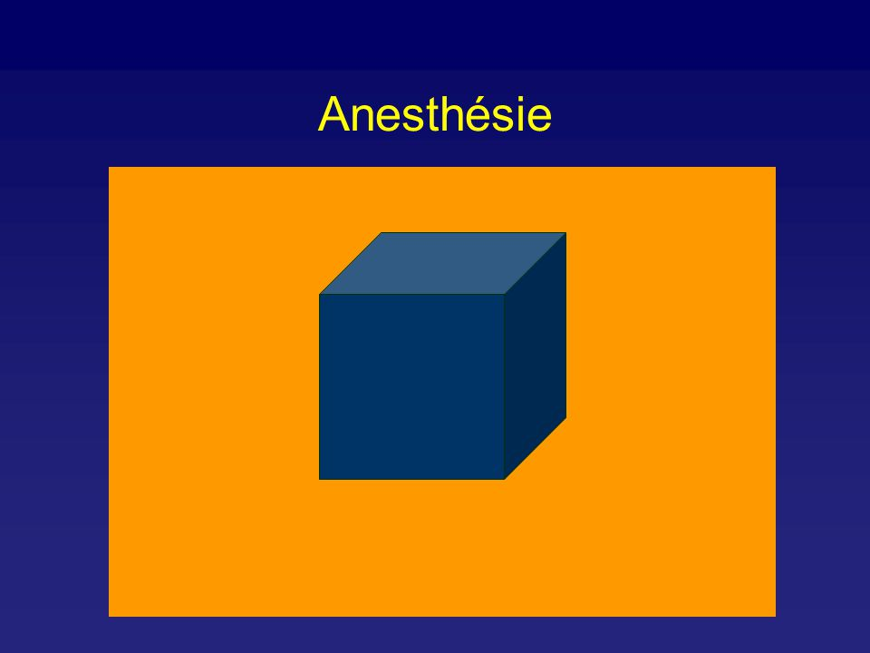 Composantes de l anesthésie - Perte de conscience - Amnésie - Blocage des réactions nociceptives