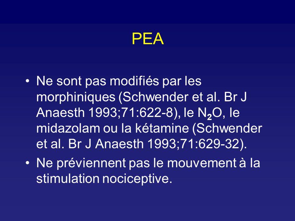 Intérêts du PEA - Aline Artéfacté par le bistouri mais récupération plus rapide du signal Electrodes moins chères Problème: validation de l index ?