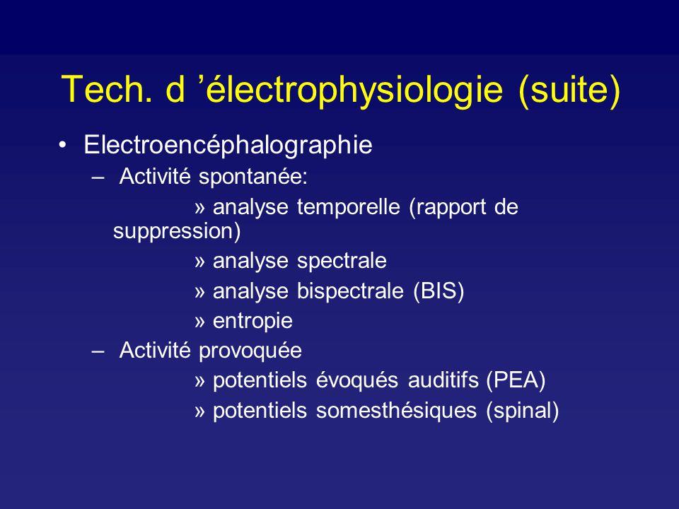 EEG: analyse spectrale Analyse de Fourier EEG Fréquence, amplitude, phase