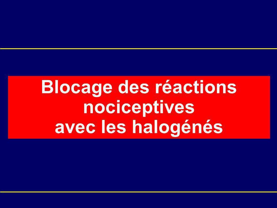 Blocage des réactions nociceptives avec les halogénés