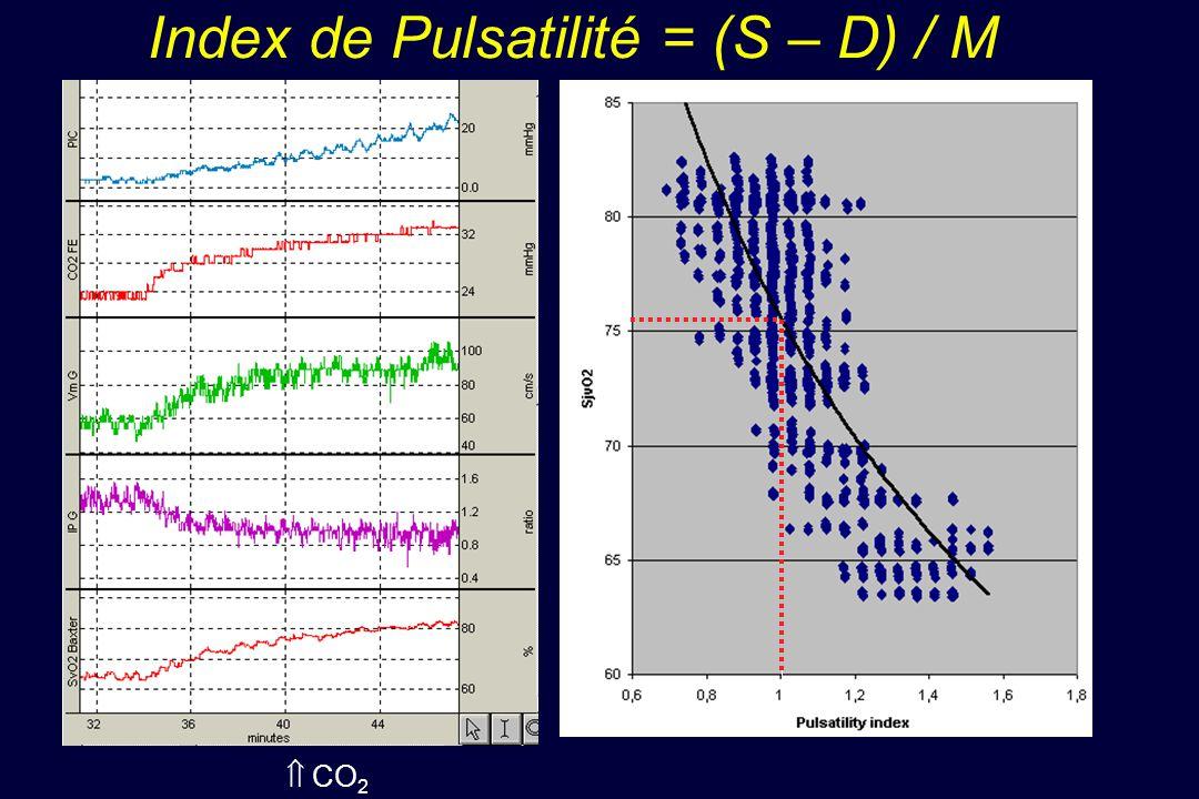 Index de Pulsatilité = (S – D) / M CO 2