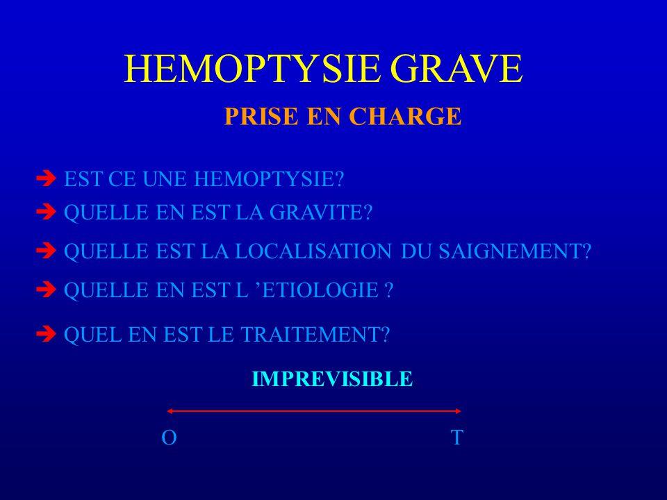 HEMOPTYSIE GRAVE PRISE EN CHARGE EST CE UNE HEMOPTYSIE.
