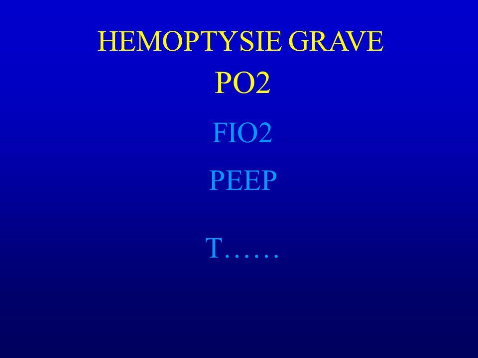 PO2 FIO2 T…… HEMOPTYSIE GRAVE PEEP