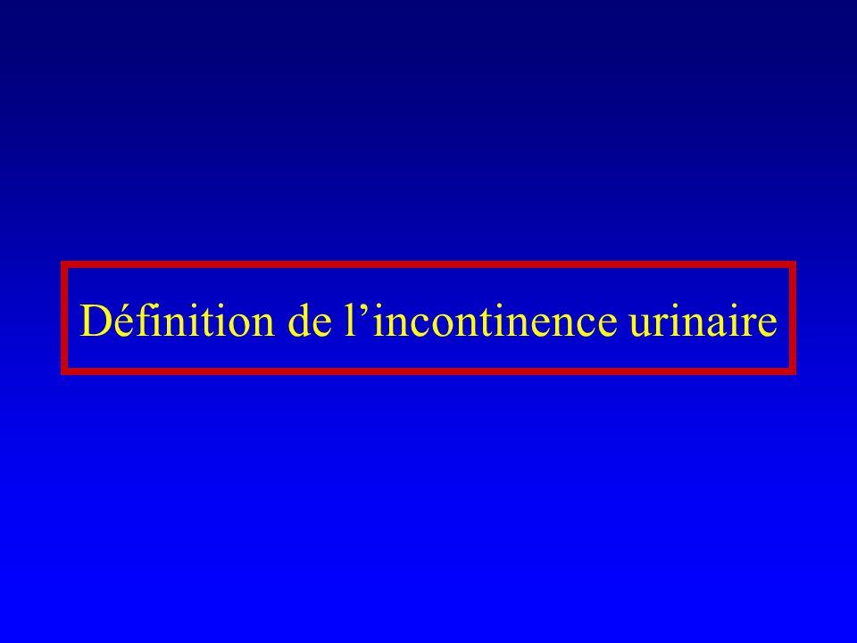 Evaluation 1.Type dincontinence: IUE, impériosité, mixte 2.