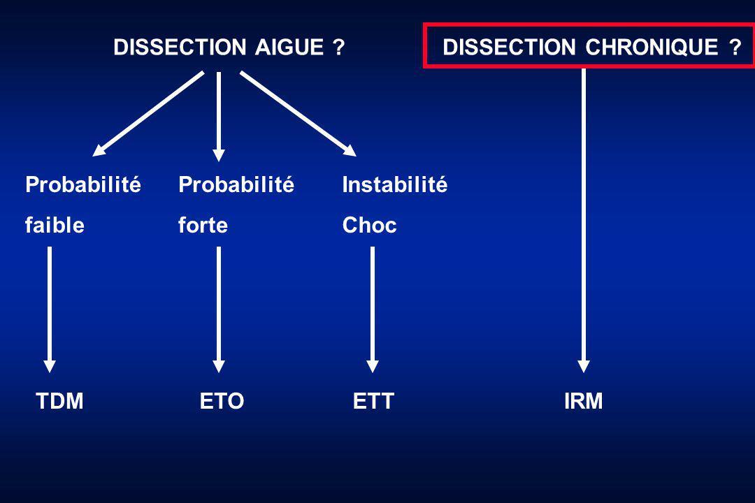 DISSECTION CHRONIQUE ?DISSECTION AIGUE .