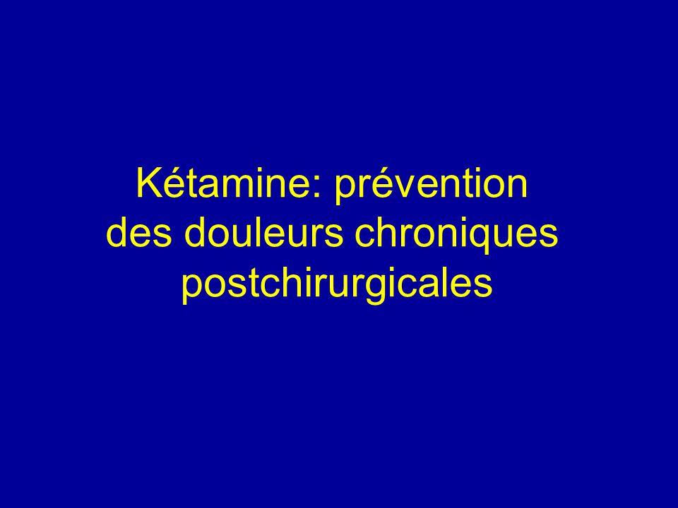 Kétamine: prévention des douleurs chroniques postchirurgicales