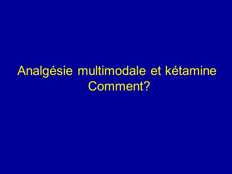 Analgésie multimodale et kétamine Comment?