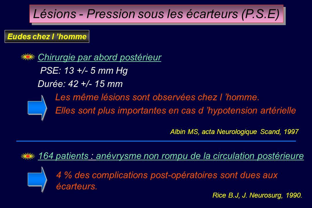 Altération des potentiels évoqués corticaux Oedème (TDM) Lésions histologiques Altération des potentiels évoqués corticaux Oedème (TDM) Lésions histol