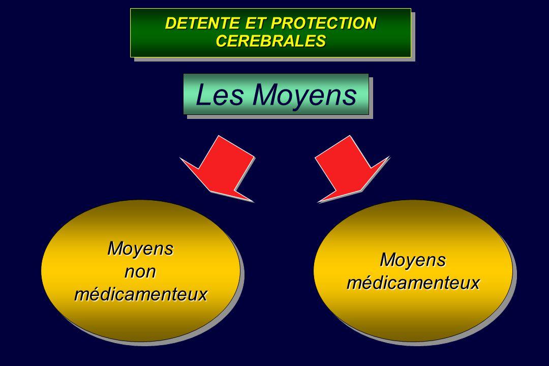 Action Biomécanique Action Biomécanique Action Biochimique Action Biochimique Augmenter la compliance cérébrale Diminuer les réactions dexcitotoxicité
