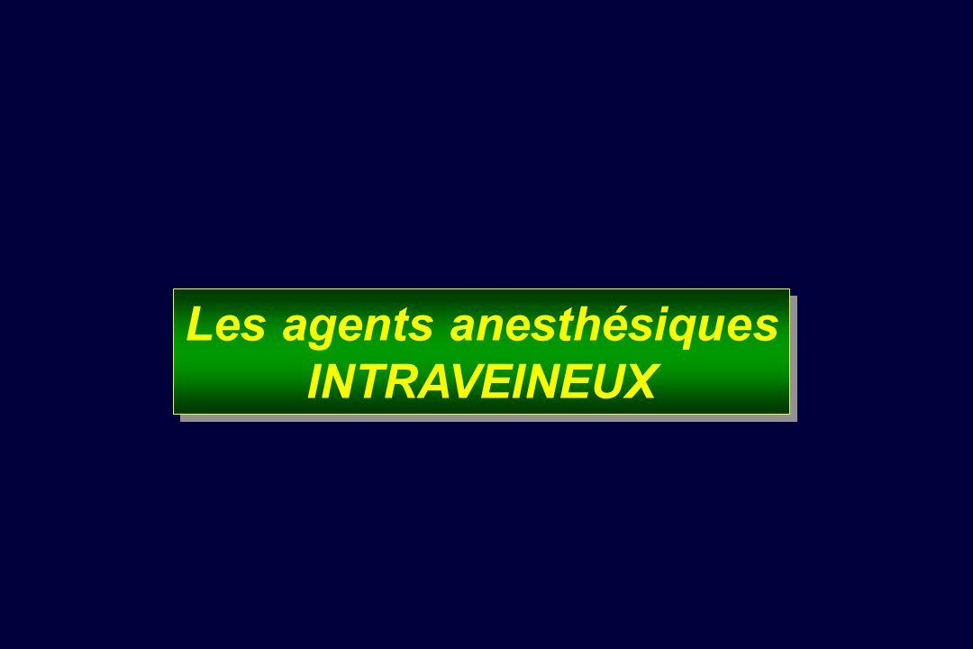 Les agents anesthésiques INTRAVEINEUX Les agents anesthésiques INTRAVEINEUX