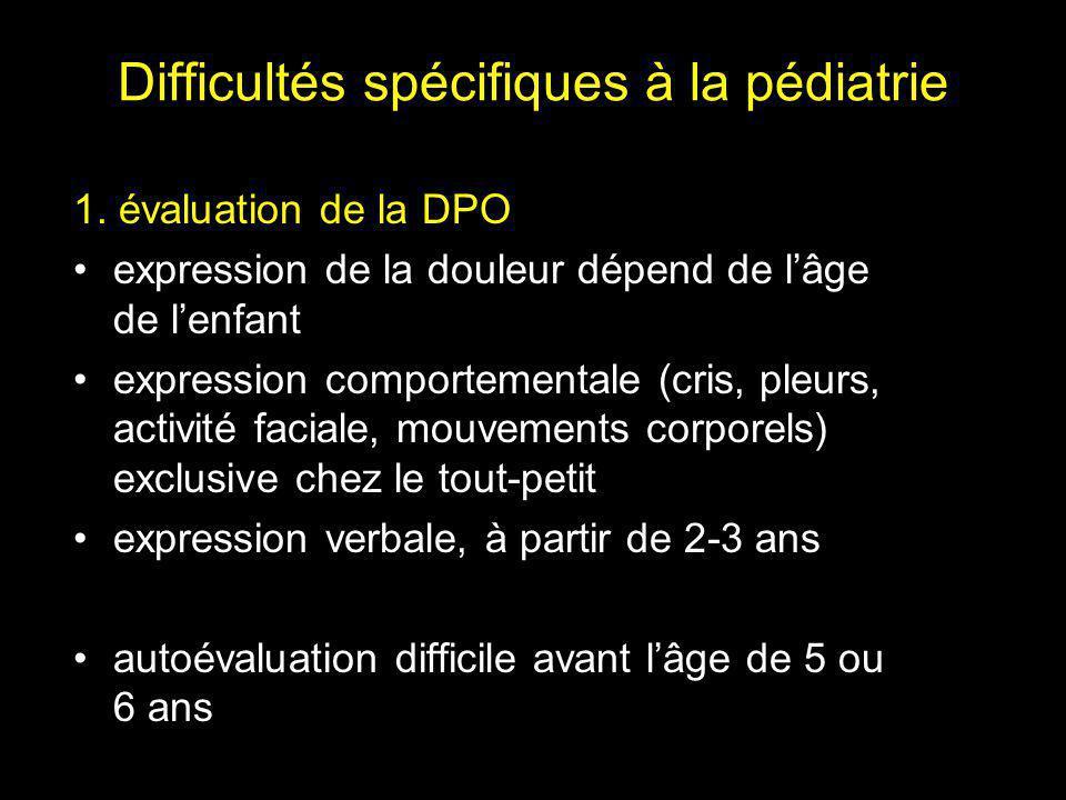 Difficultés spécifiques à la pédiatrie 1.