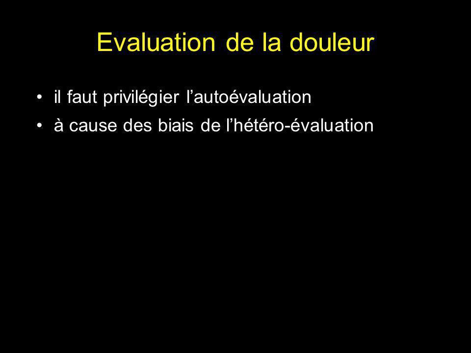 Niveaux de douleur postopératoire Gall et al. Anesthesiology 2001