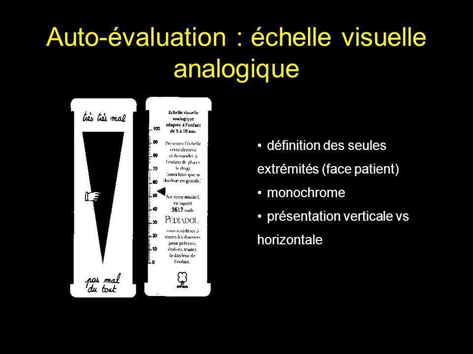 Auto-évaluation simplifiée Échelle de visages (McGrath 1985; Bieri 1990) Jetons (Hester 1979, 1990) 0.