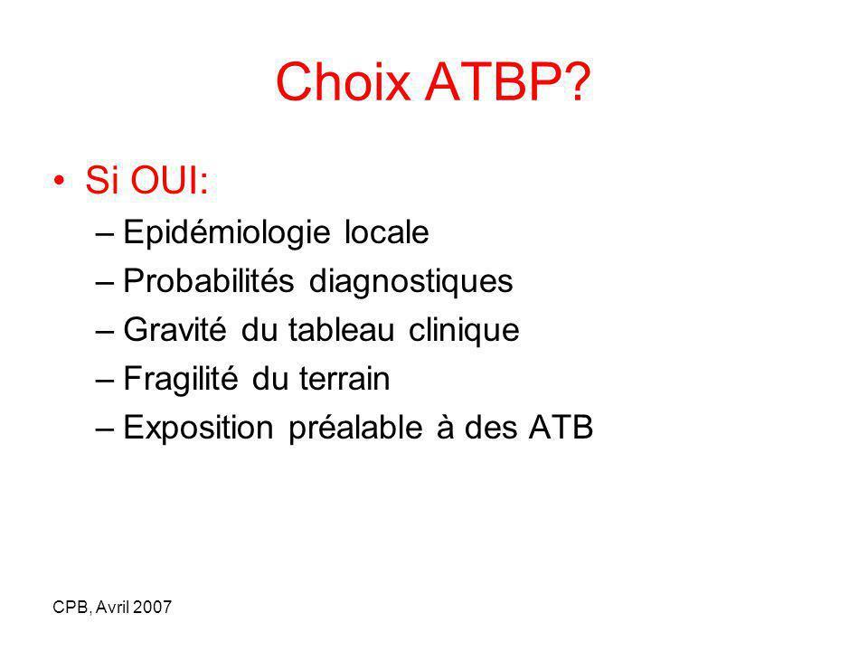 CPB, Avril 2007 Choix ATBP.