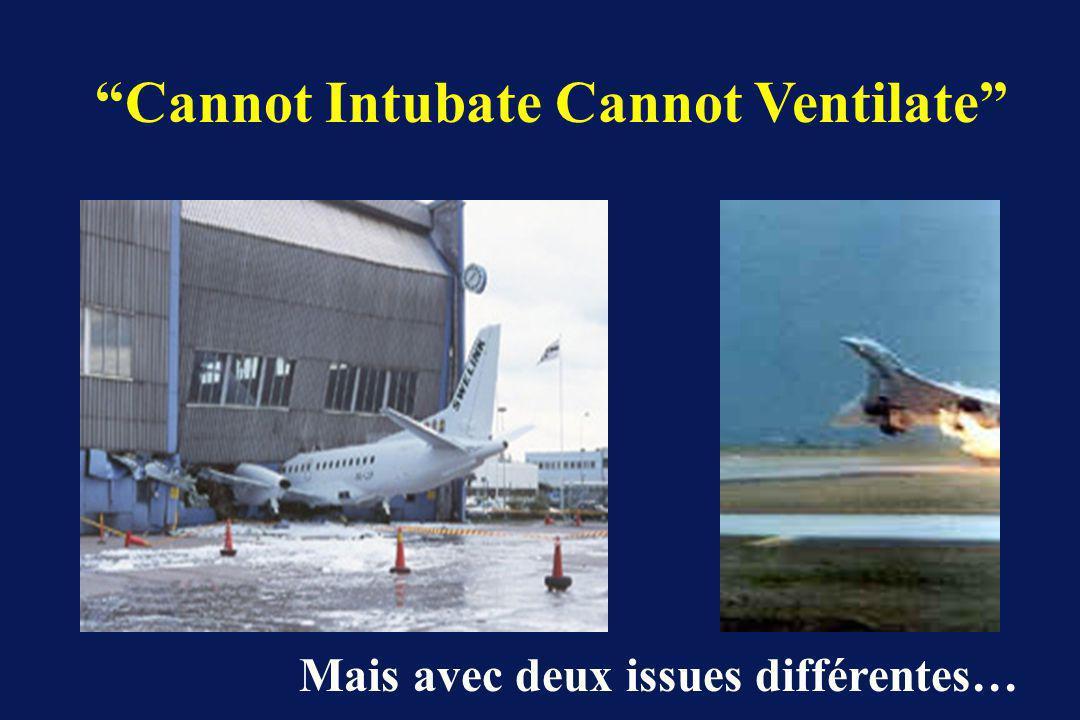 Cannot Intubate Cannot Ventilate Mais avec deux issues différentes…