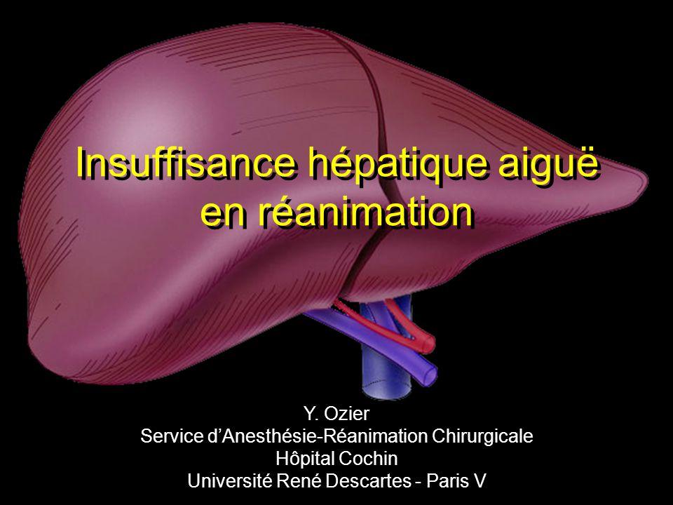 Tableau bioclinique de lInsuffisance hépatique fulminante/subfulminante F.