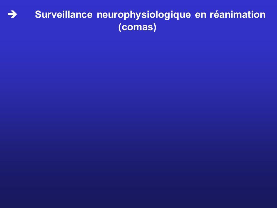 Surveillance neurophysiologique en réanimation (comas)