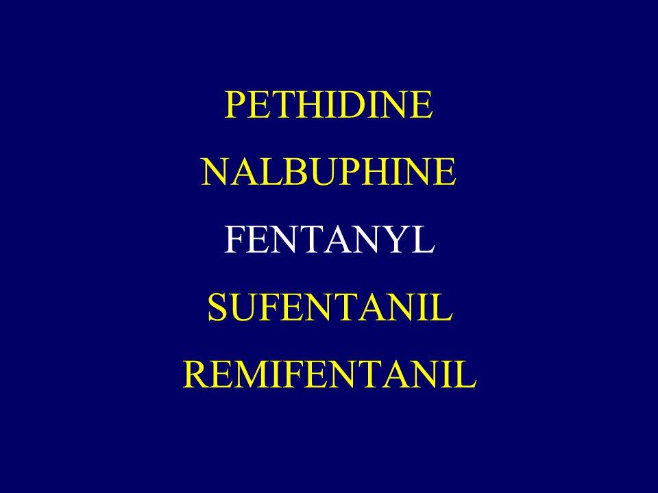 PETHIDINE NALBUPHINE FENTANYL SUFENTANIL REMIFENTANIL