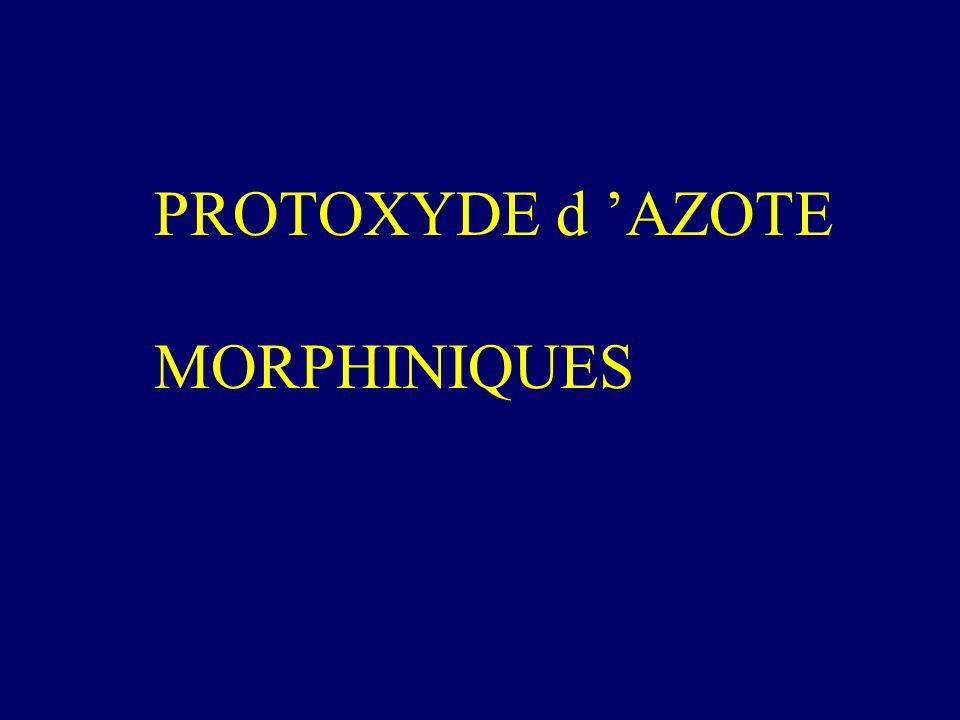 PROTOXYDE d AZOTE MORPHINIQUES