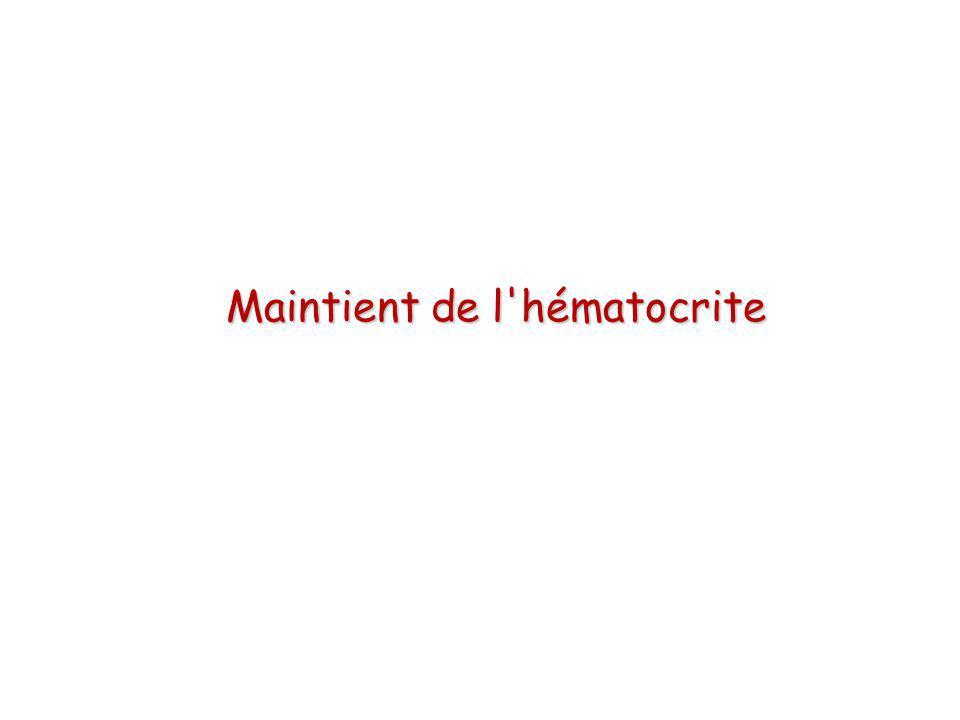 Maintient de l'hématocrite