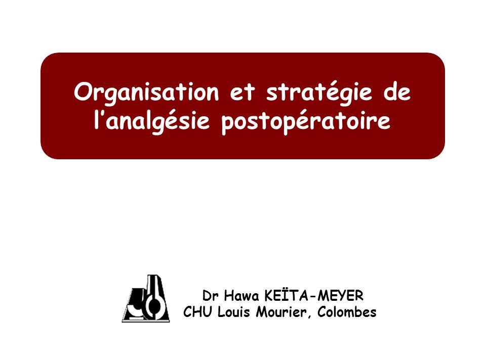 Organisation et stratégie de lanalgésie postopératoire Dr Hawa KEÏTA-MEYER CHU Louis Mourier, Colombes