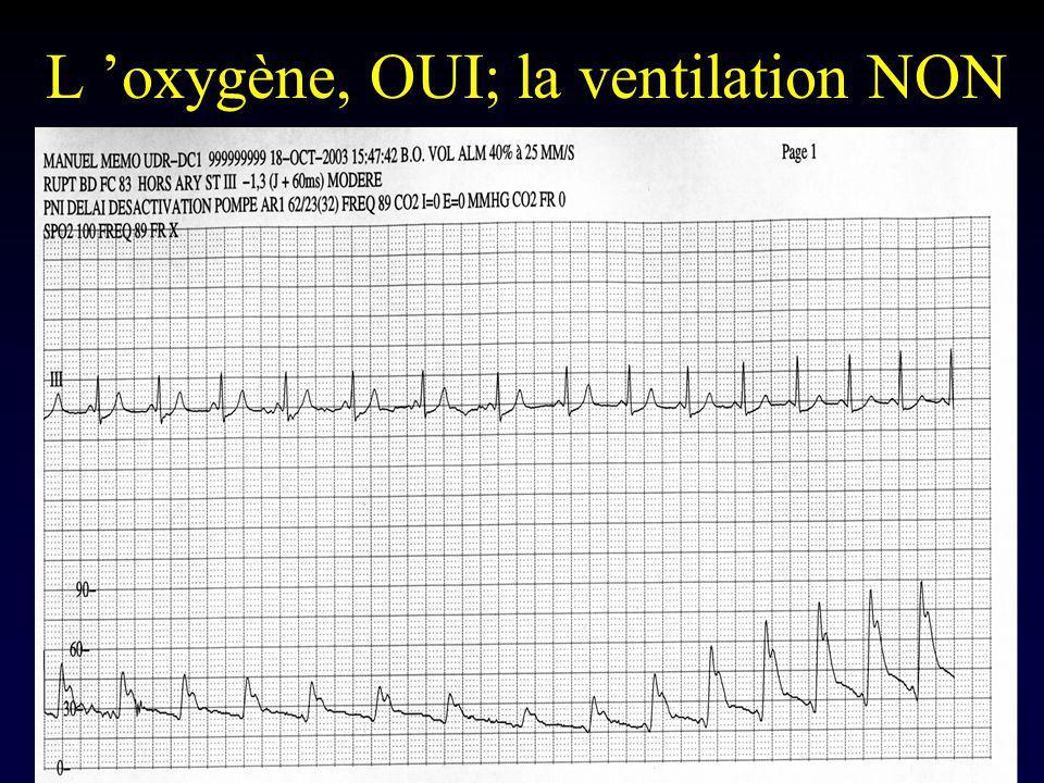 L oxygène, OUI; la ventilation NON
