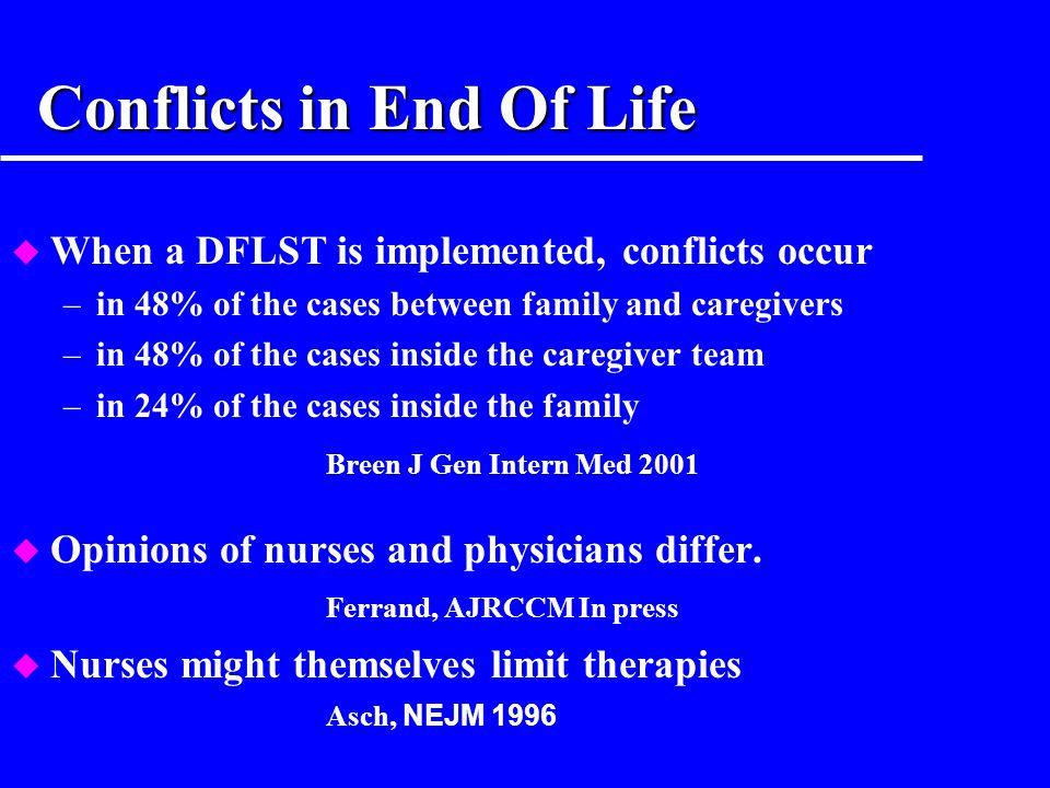 Pourquoi impliquer les familles dans les FDV ? logique contractuelle u Family members protect the patients interests JAMA 1990 Oct 10;264(14):1846-53
