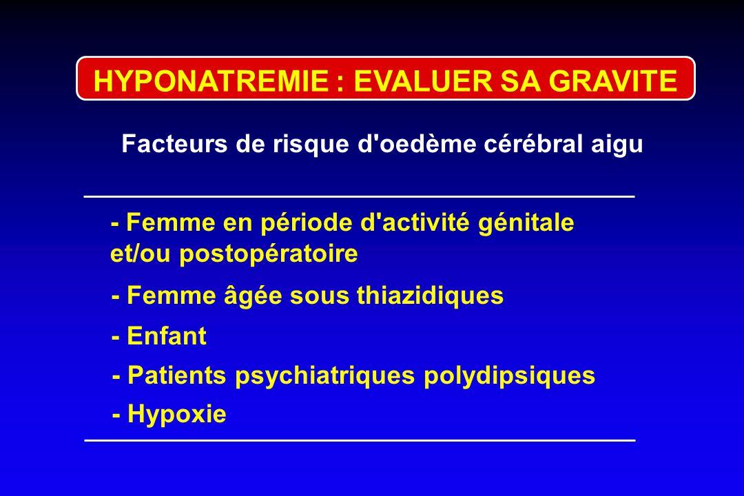 patientes hypoNa contrôles n = 367 (Ayus et al Ann Intern Med, 1993) 100 20 Période d'activité génitale 40 60 80 89% 11% Période postménauposique 24%