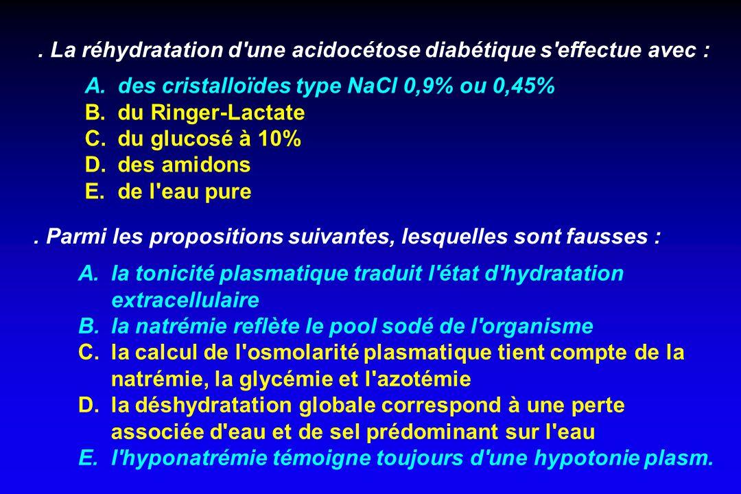 1 - TRT préventif 2- TRT étiologique 3- TRT symptomatique rétablir la volémie = priorité absolue. hyperglycémie. hyperNa à VEC corriger l'hypertonie p