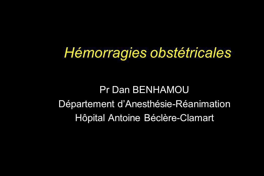Incidence de placenta praevia Incidence de placenta accreta Nombre de césariennes antérieures Utérus cicatriciel et Placenta praevia/accreta Clark SL et al, Obstet Gynecol 1985,66:89