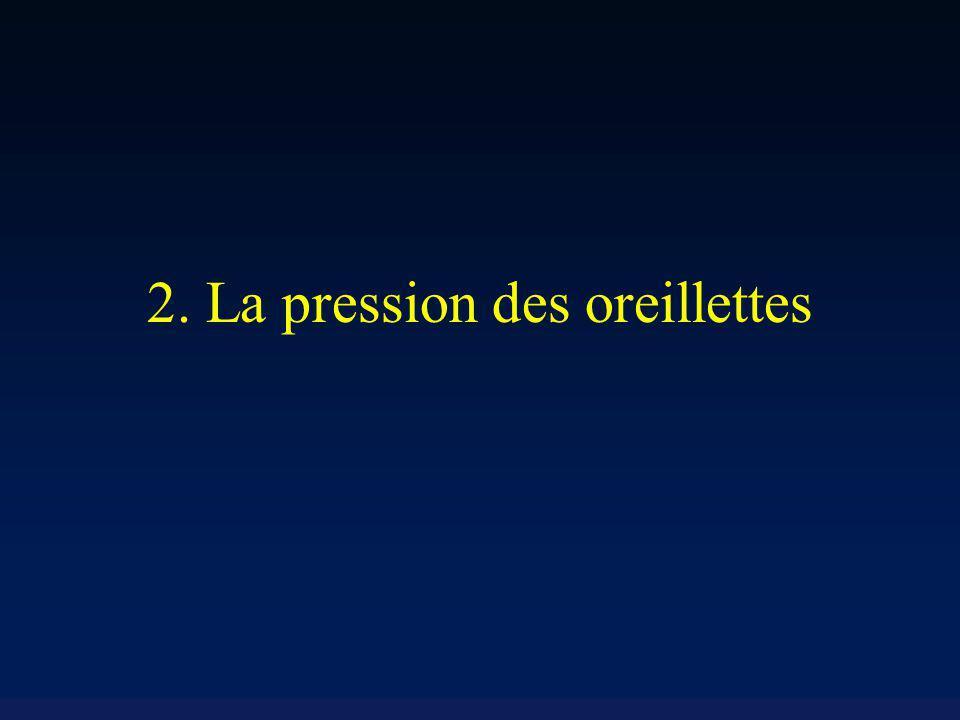 2. La pression des oreillettes