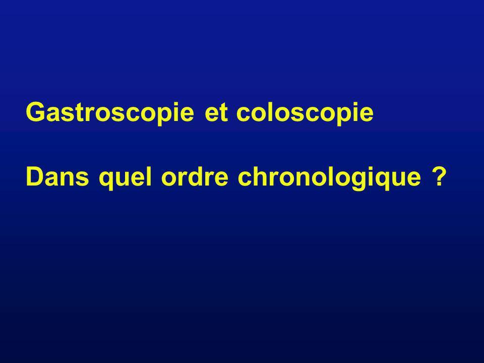 Gastroscopie et coloscopie Dans quel ordre chronologique ?