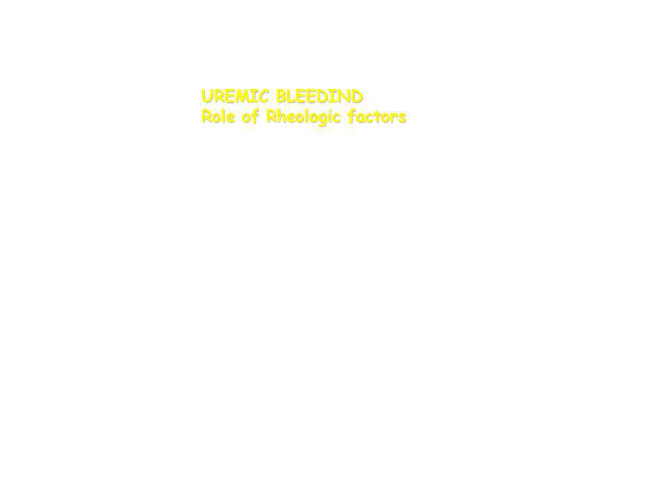 UREMIC BLEEDIND Role of Rheologic factors