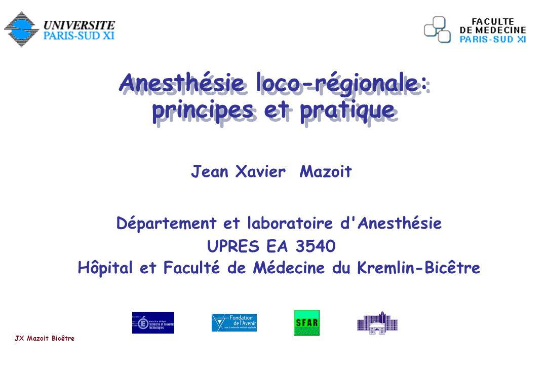 Mazoit et col. Anesthesiology 1988; 68: 387-91. JX Mazoit Bicêtre