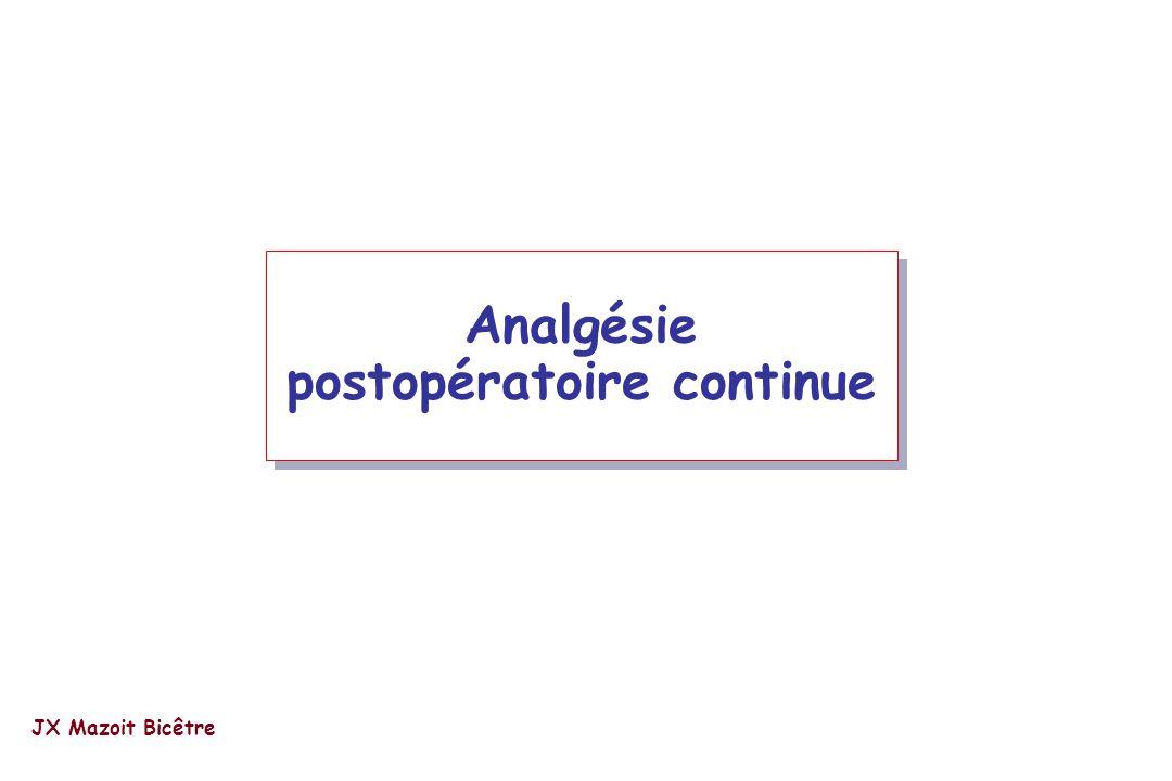 Analgésie postopératoire continue JX Mazoit Bicêtre