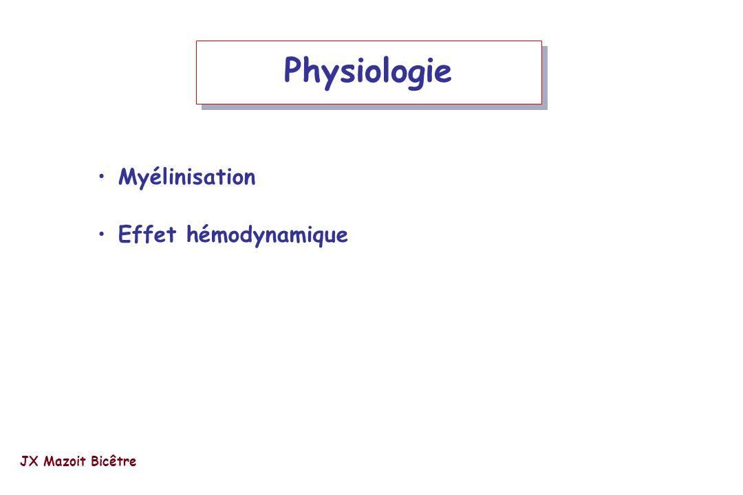 Physiologie Myélinisation Effet hémodynamique JX Mazoit Bicêtre