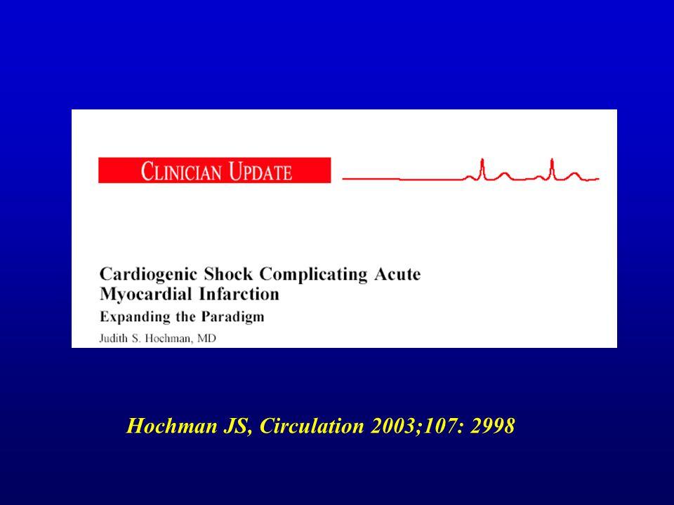 Hochman JS, Circulation 2003;107: 2998