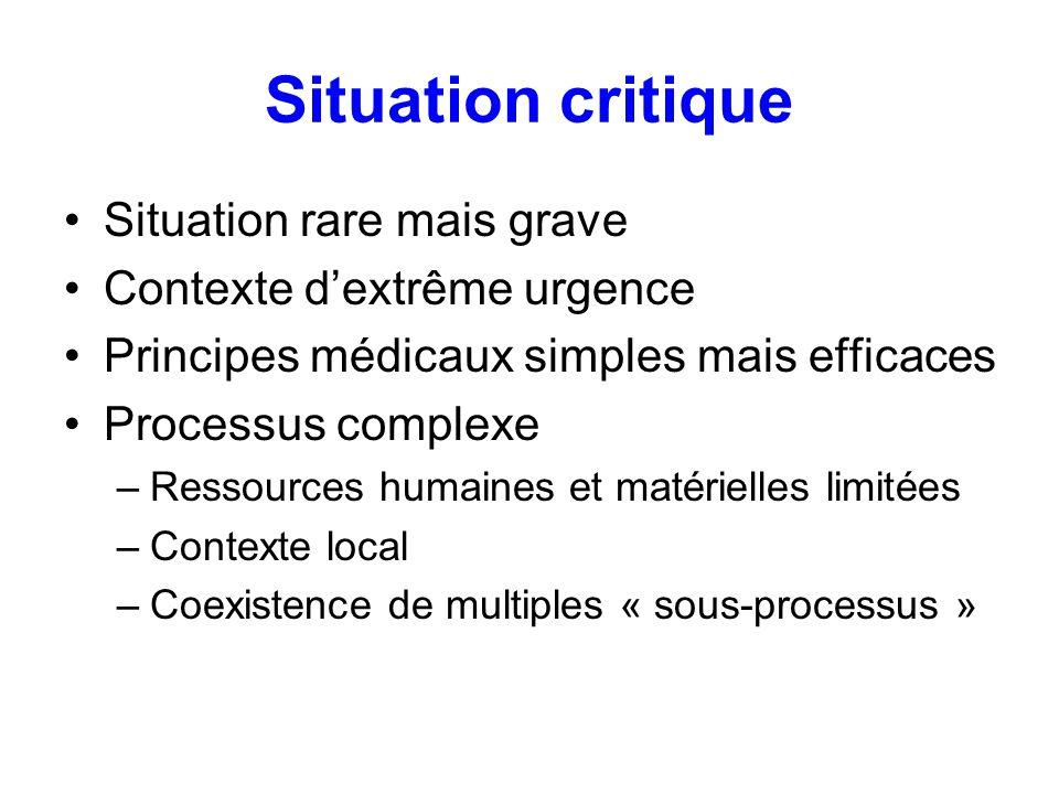 Organisation de la distribution des PSL en France Urgence vitale immédiate –Délai de distribution < 15 min –Délivrance des PSL en labsence de documents immuno-hématologiques (DIH) (groupe, RAI) –CGR : O Rh-1 Kell-1 ou O Rh-1 (-3 ; -4) Kell-1 –CGR : O Rh- Kell- ou O Rh- (E- ; c-) Kell- –PFC groupe AB –Demande notifiant lUVI –Apport de tubes pour DIH dès que possible