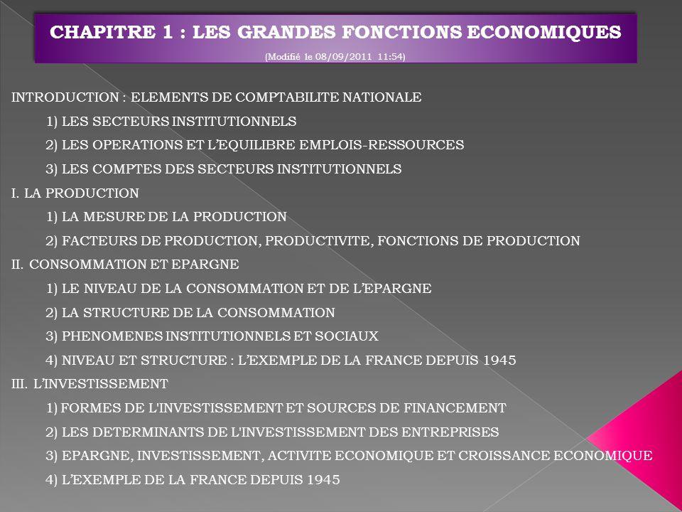 Kuznets : -En 1934 : « Le bien-être dune nation ne peut guère se déduire de la mesure du revenu national » - En 1962 : « Les objectifs pour plus de croissance devraient spécifier croissance de quoi et croissance pour quoi » Robert Kennedy en 1968 : « le PIB mesure à peu près tout, sauf ce qui rend la vie digne d être vécue » Ecoflash sur « Les Indicateurs de richesse »