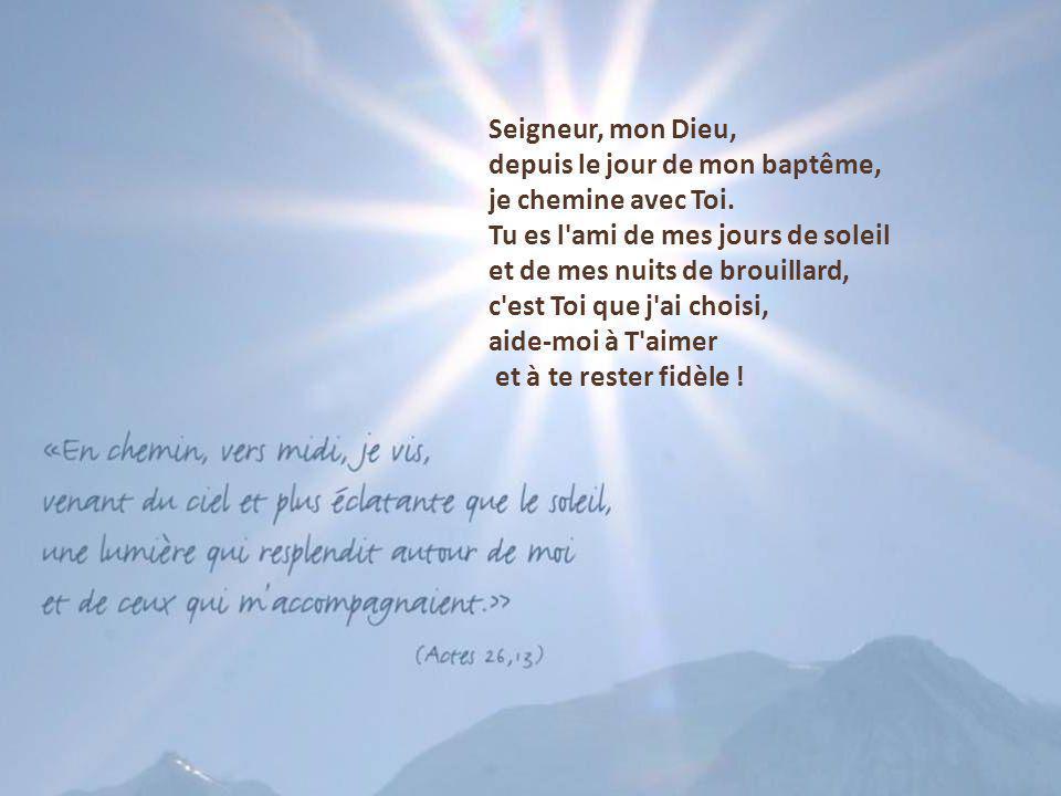 Tu es le chemin, Tu es la vie nouvelle ! Donne-moi, Seigneur, sur ma route de Carême, d'oser vivre Ta parole, celle qui donne vie, celle qui ouvre l'h