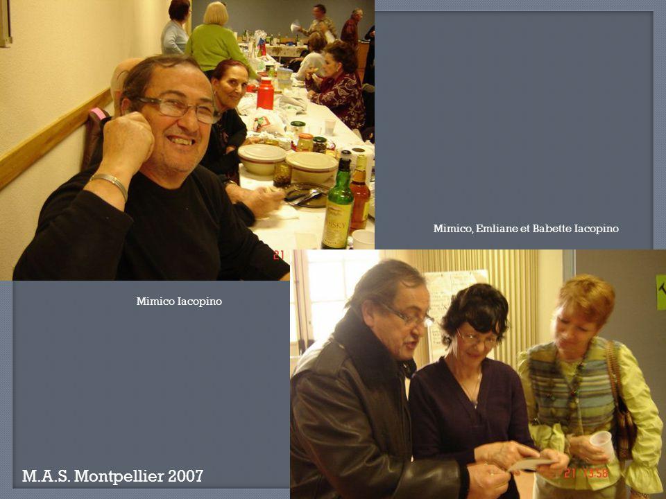 M.A.S. Montpellier 2007 Eliane Posada, Germaine Bernabeu et Le Padre