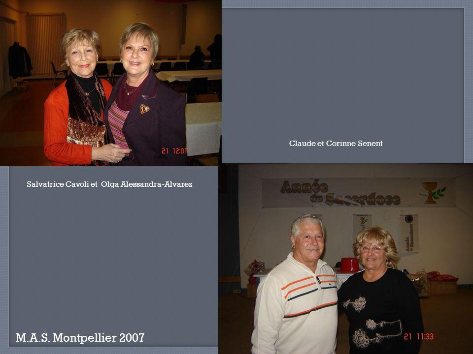 M.A.S. Montpellier 2007 Lucienne Gil et Martine Lacroix Gonzales François et Deschamps Josette