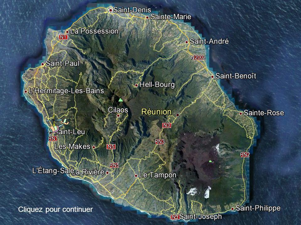 Cliquez pour continuer Invitation au voyage sur lîle de La Réunion AVANCER AU CLIC