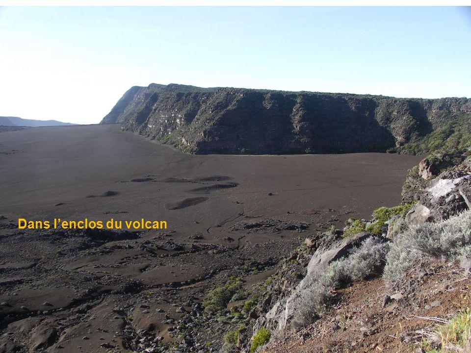 Volcanologues dans le cratère du Piton de la Fournaise 2007