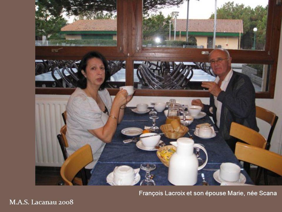 M.A.S. Lacanau 2008 François Lacroix et son épouse Marie, née Scana