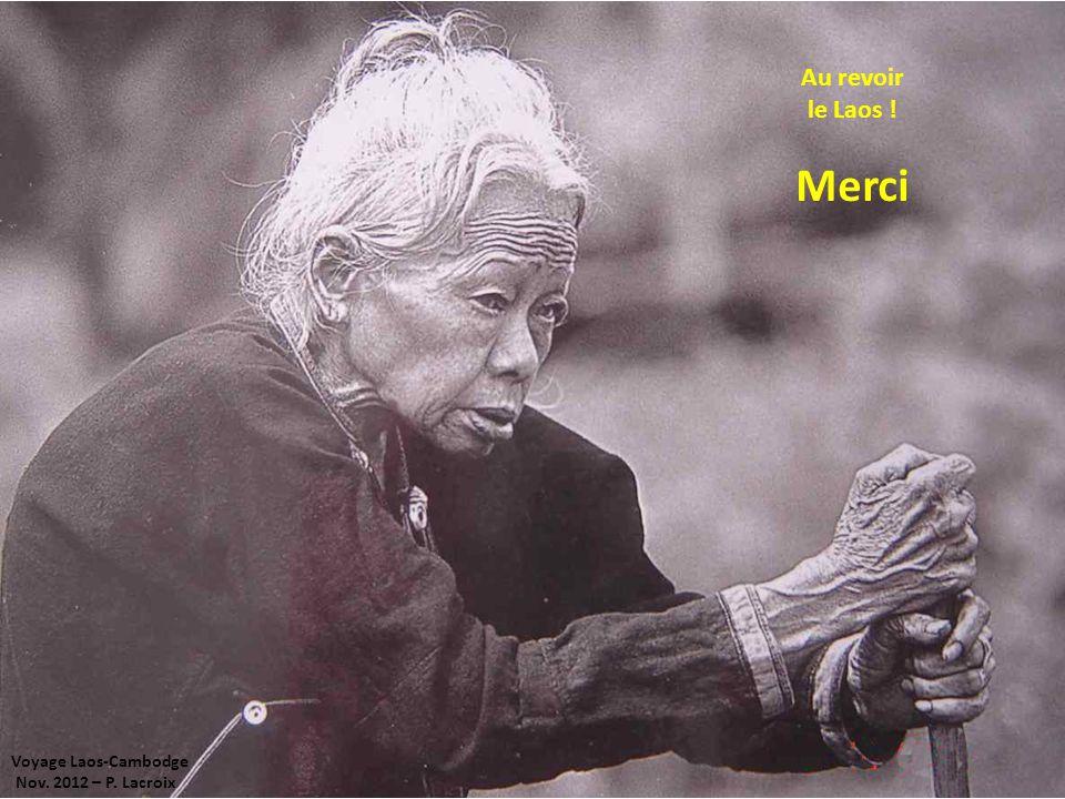 Voyage Laos-Cambodge Nov. 2012 – P. Lacroix Au revoir le Laos ! Merci