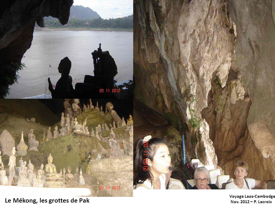 Voyage Laos-Cambodge Nov. 2012 – P. Lacroix Le Mékong, les grottes de Pak