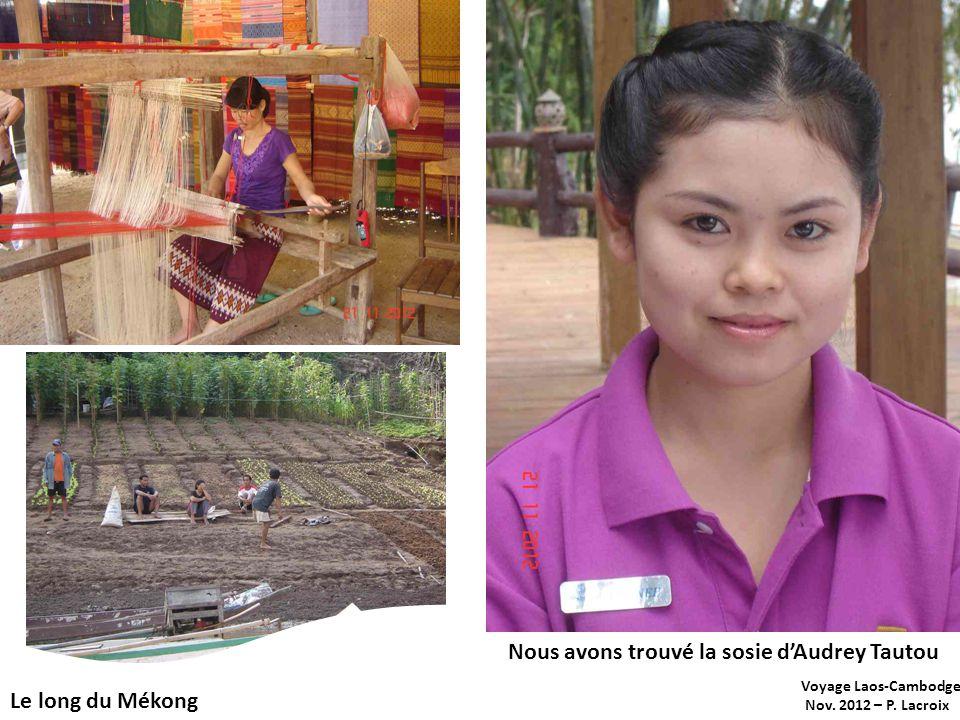 Voyage Laos-Cambodge Nov. 2012 – P. Lacroix Le long du Mékong Nous avons trouvé la sosie dAudrey Tautou